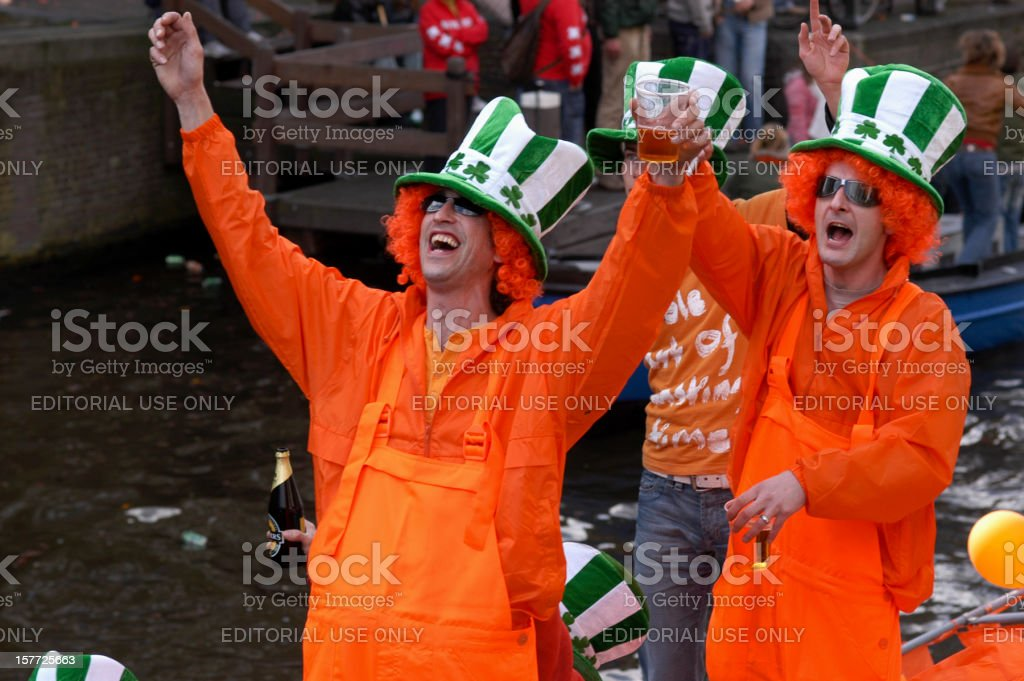 Koninginnedag - Queen's Day in Amsterdam royalty-free stock photo