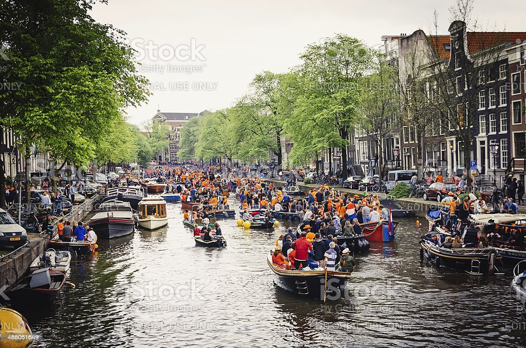 Koningsdag 2014 in Amsterdam royalty-free stock photo