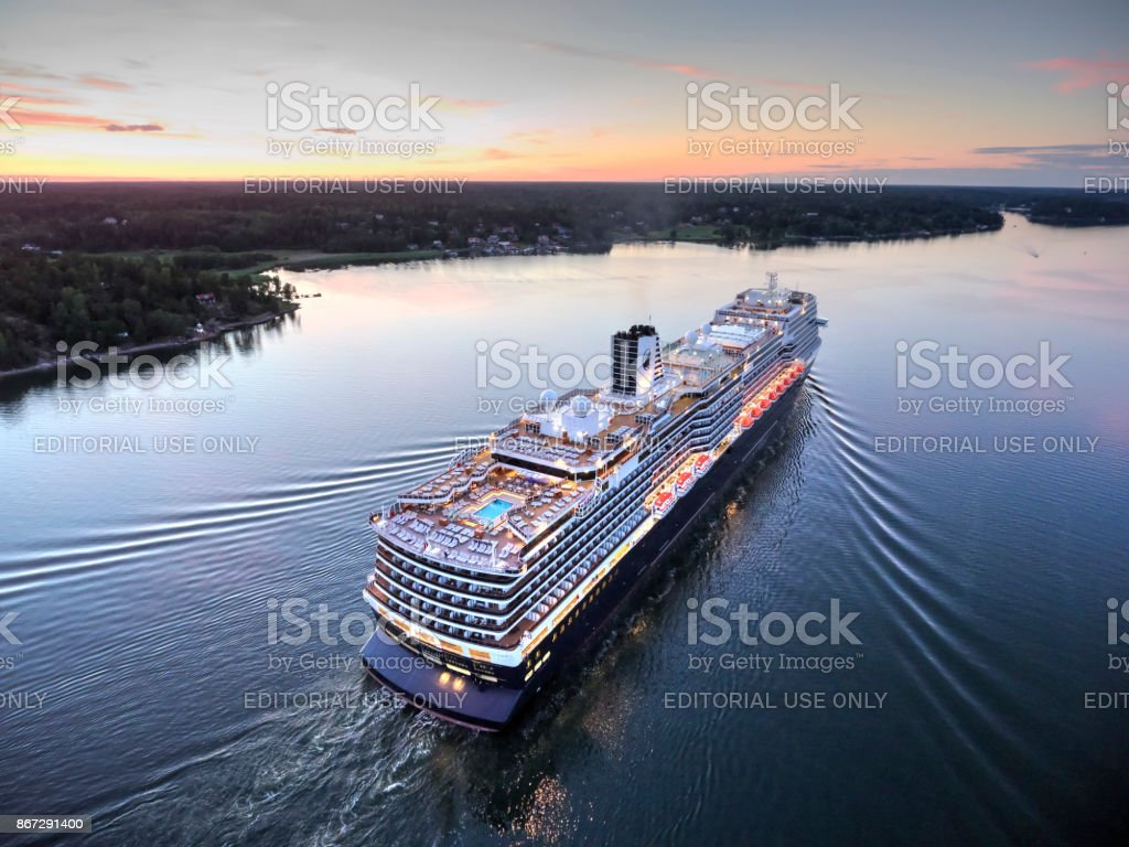 Koningsdam Cruiser Ship stock photo