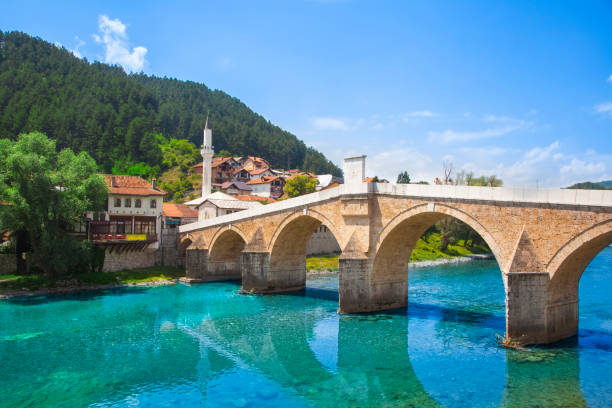 Konjic Bridge Konjic Bridge, Bosnia and Herzegovinian bosnia and hercegovina stock pictures, royalty-free photos & images