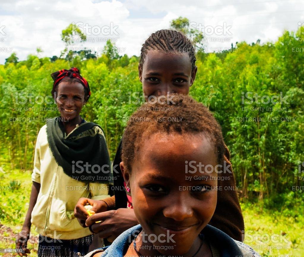 Konso aka Xonsita tribe woman  Omo valley, Ethiopia stock photo