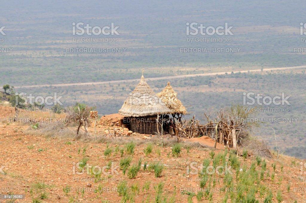 Konso hut stock photo
