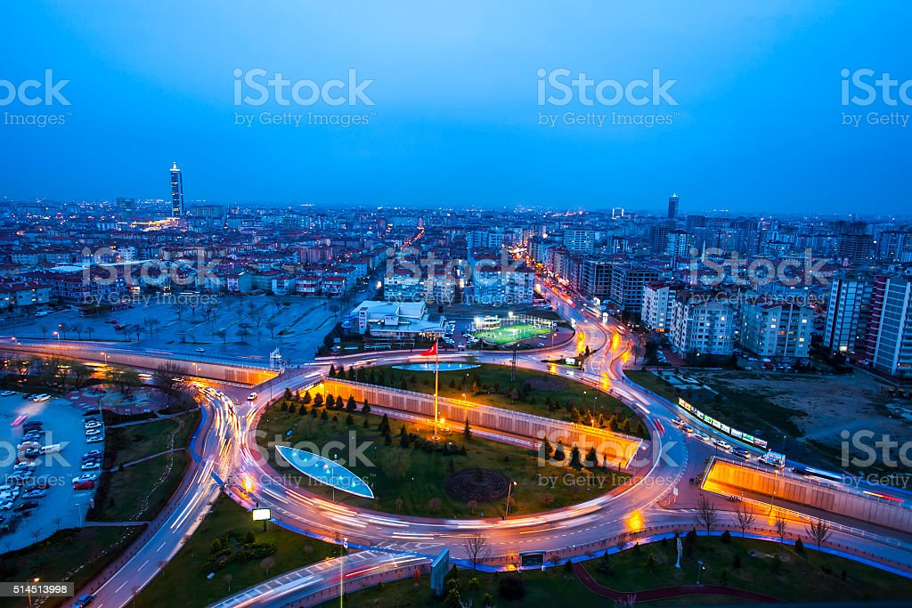 konya city stock photo