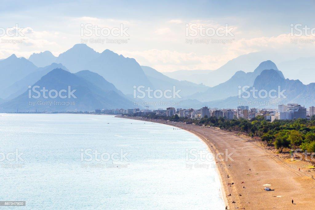 Konyaalti beach, Antalya, Turkey stock photo