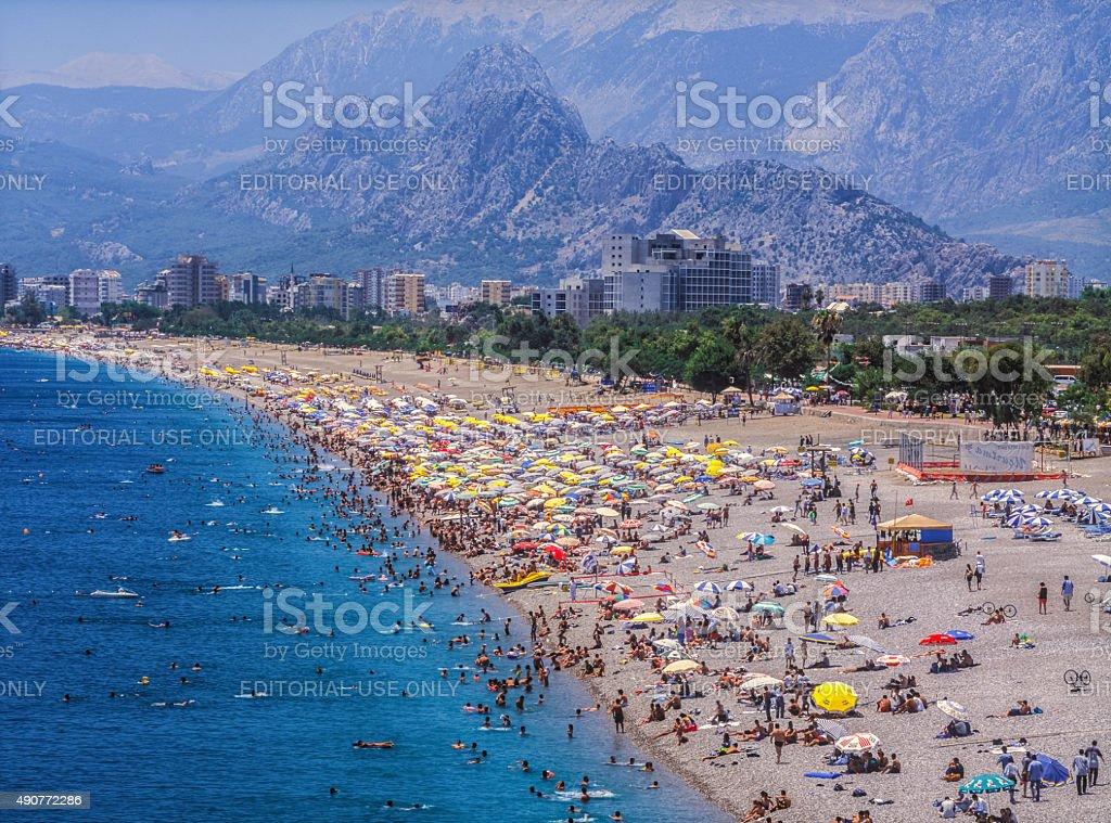 Konyaalti Beach stock photo