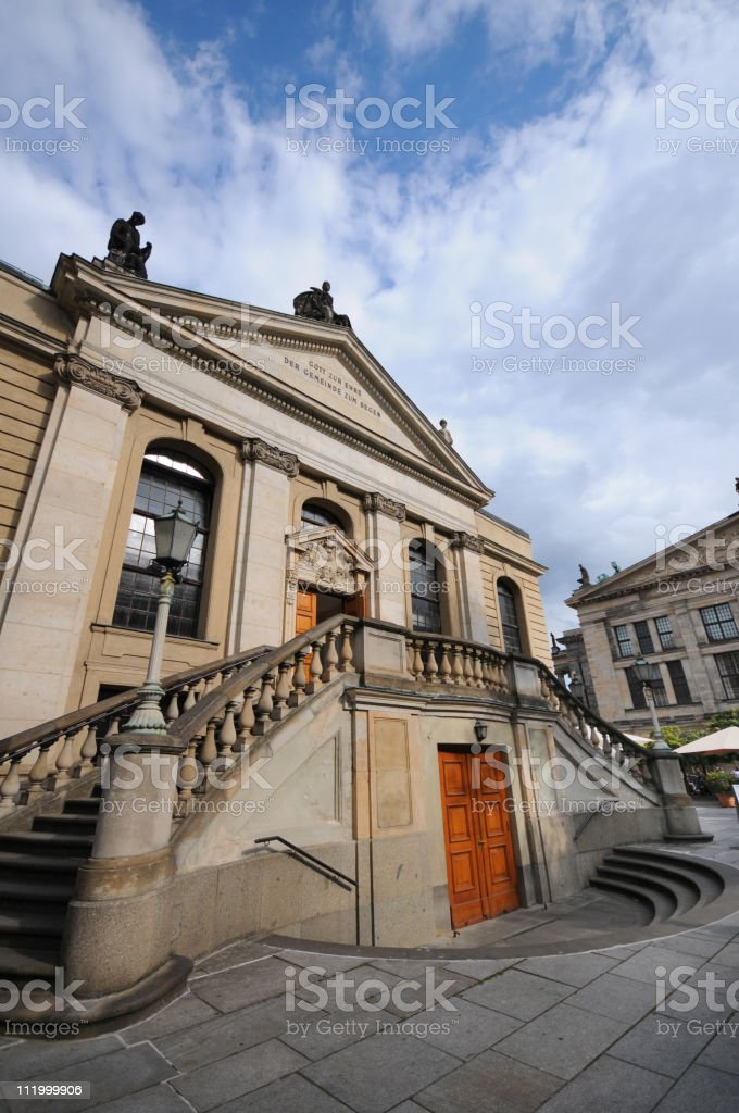 Konzerthaus once called Schauspielhaus (Gendarmenmarkt) in Berlin royalty-free stock photo