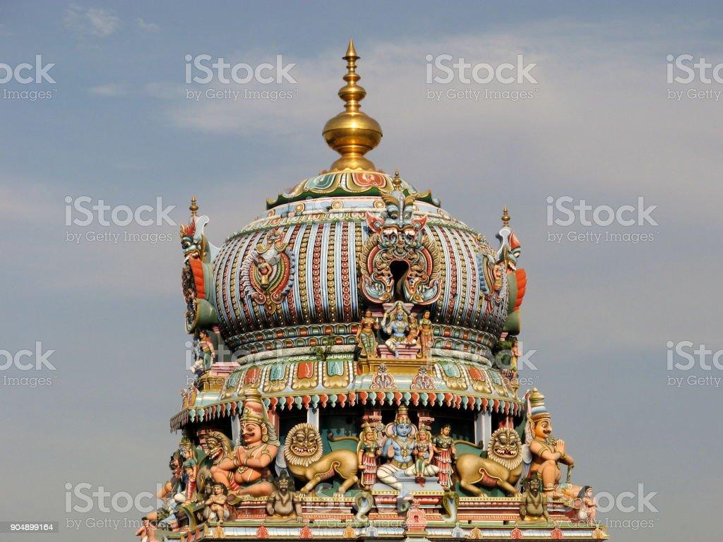 Koodal Azhagar Perumal Temple Tower stock photo