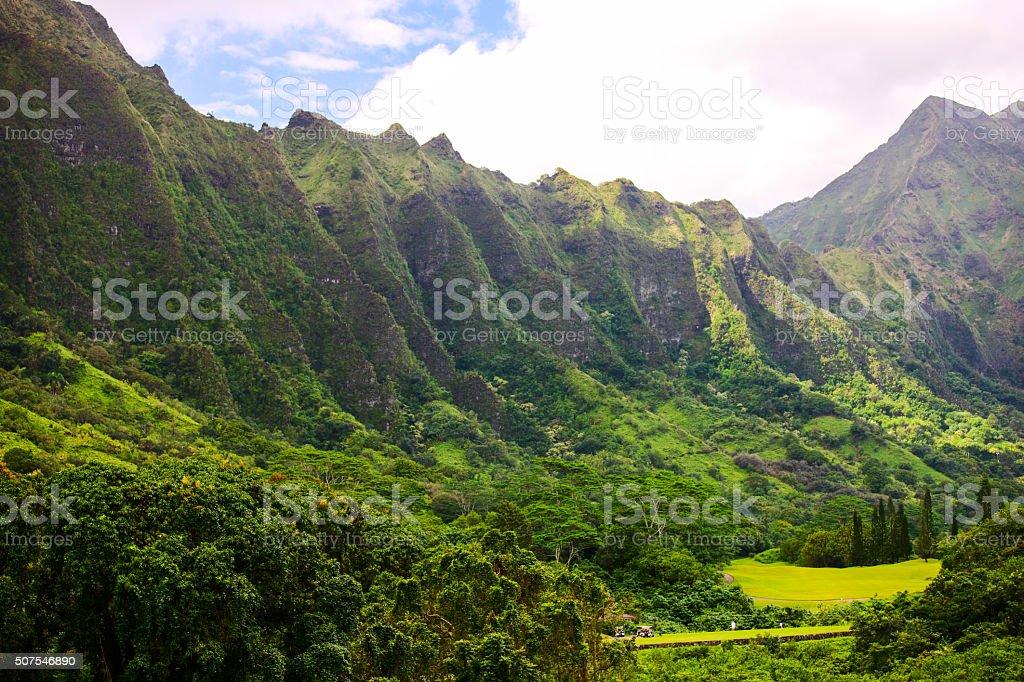 Ko'olau Mountain Range, Oahu, Hawaii stock photo