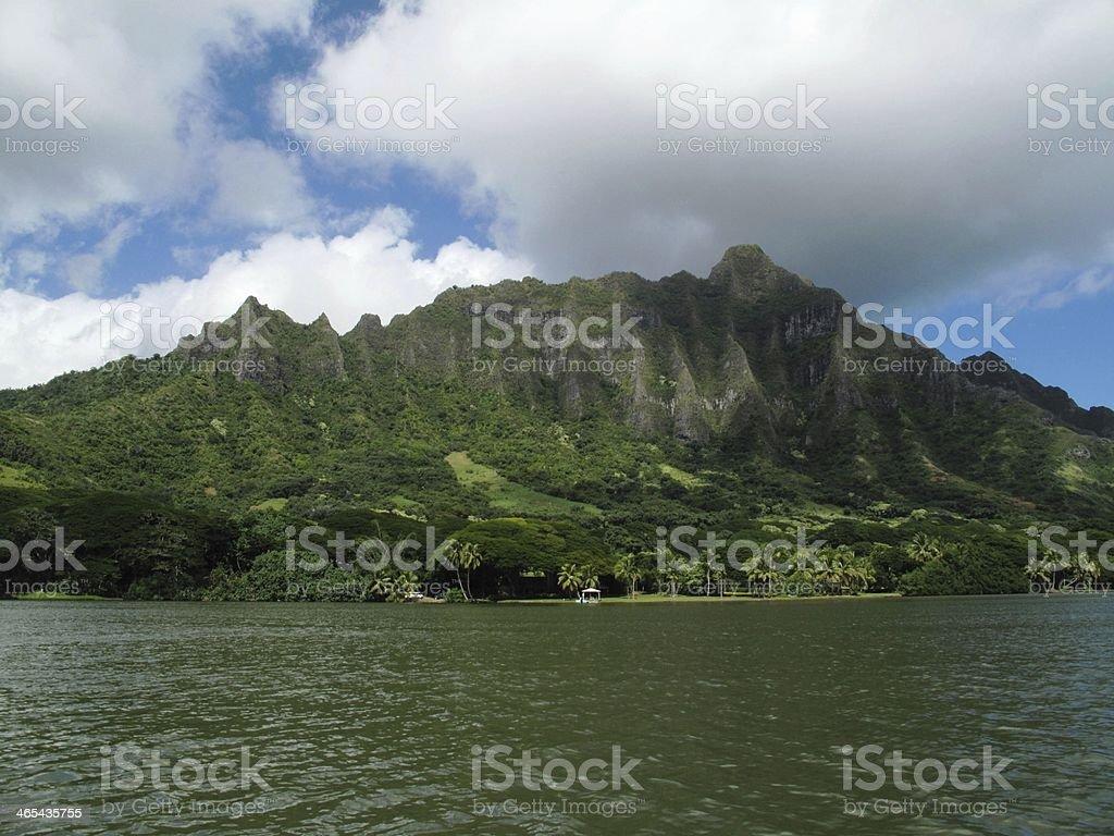 Koolau Mountain Range stock photo