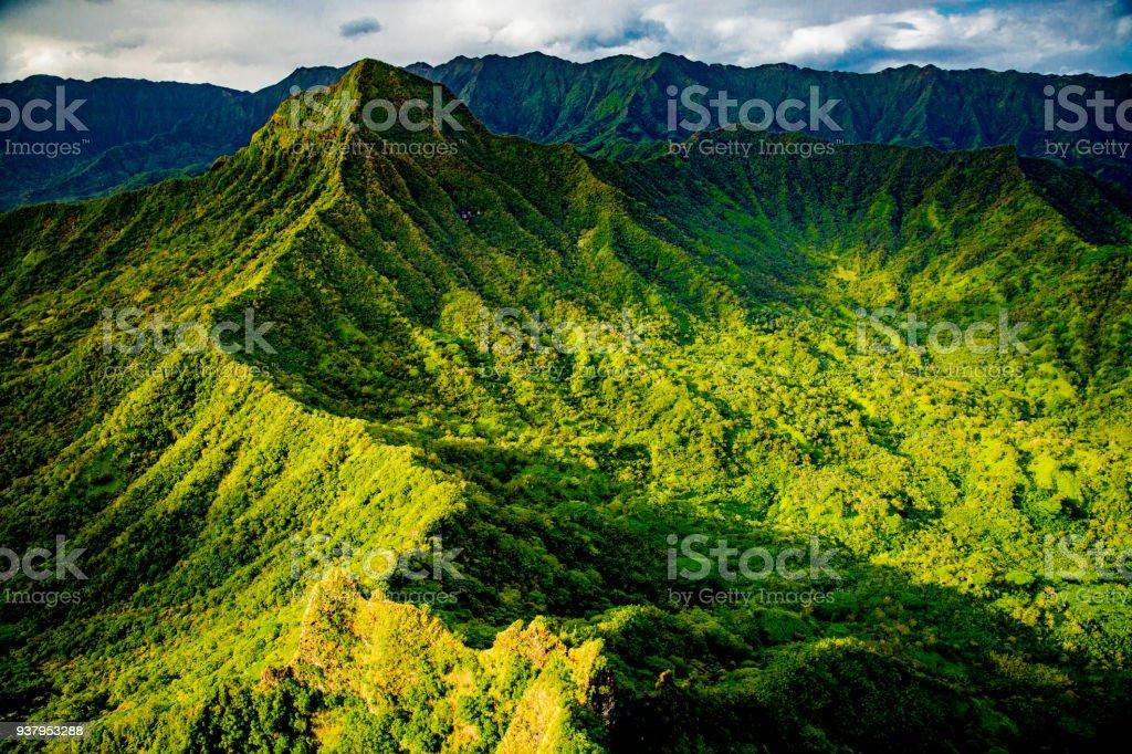 Koolau Mountains stock photo