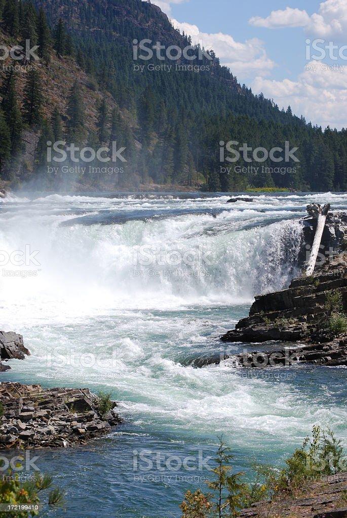 Kootenai Falls, vertical stock photo