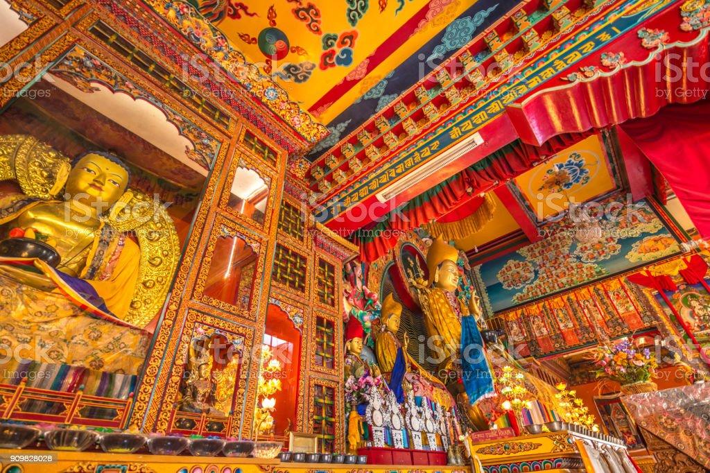 Kopan Monastery interior stock photo