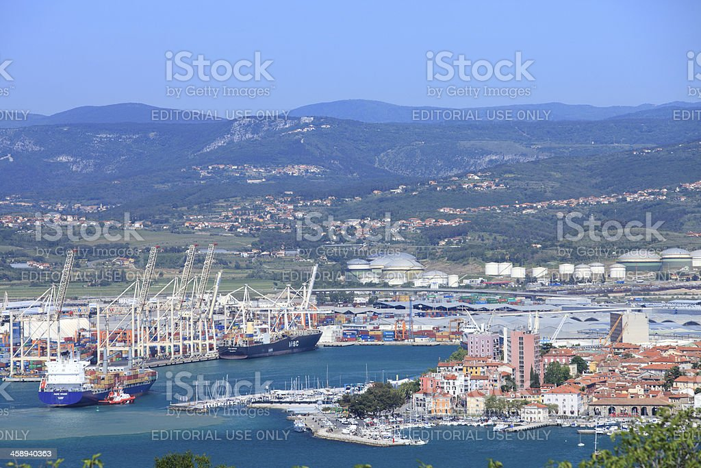 Koper Capodistria and its port stock photo