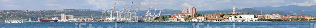 Koper panorama stock photo