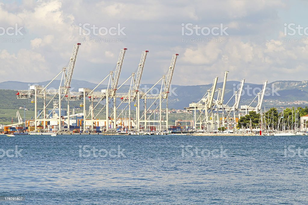 Koper port stock photo