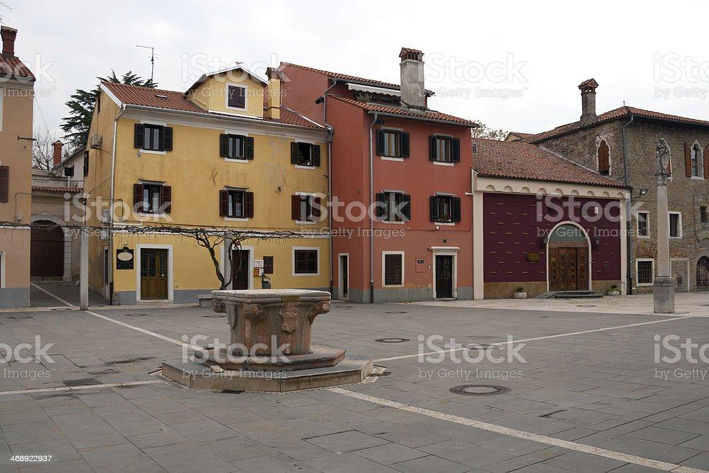 Koper - Winter day in Carpaccio square, Slovenia stock photo