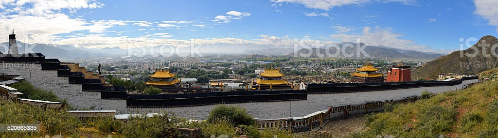 Kora of Tashilunpo Monastery n Shigatse, Tibet stock photo