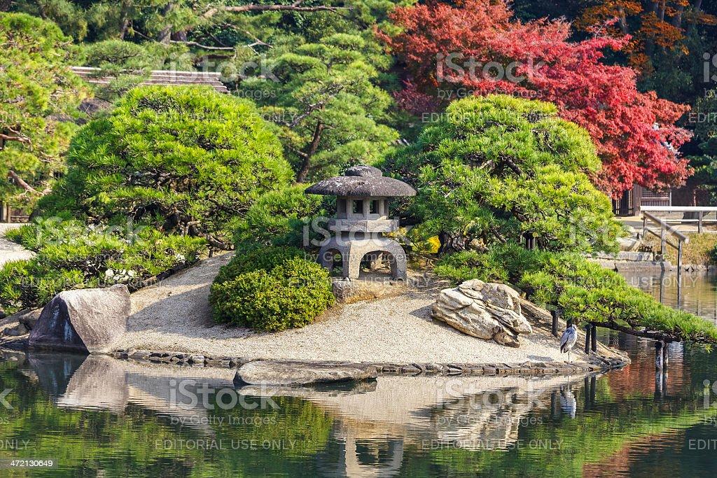 Koraku-en garden in Okayama stock photo