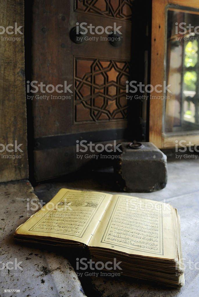 Koran at windowsill stock photo
