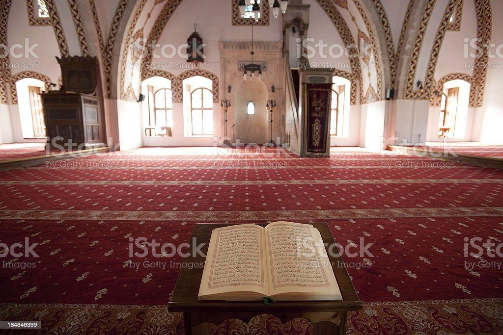Koran in Antakya Habib-i Neccar Mosque stock photo