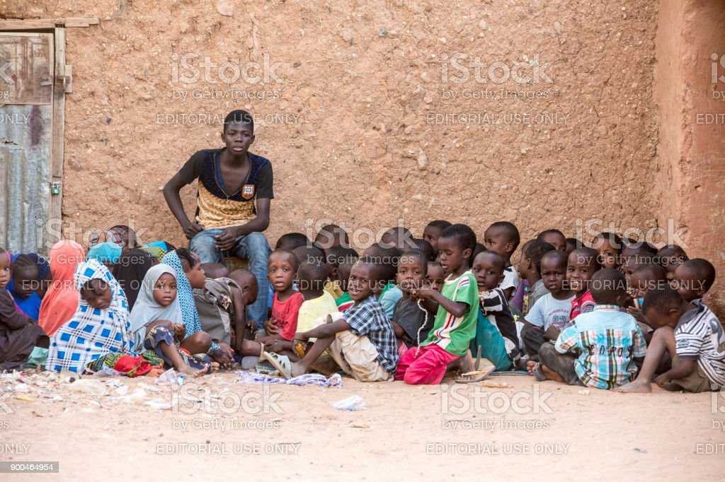 Koranschule in  Agadez Niger stock photo
