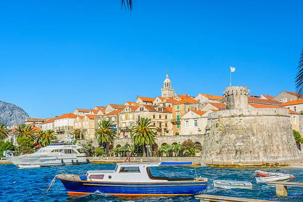Korcula old mediterranean town. – Foto