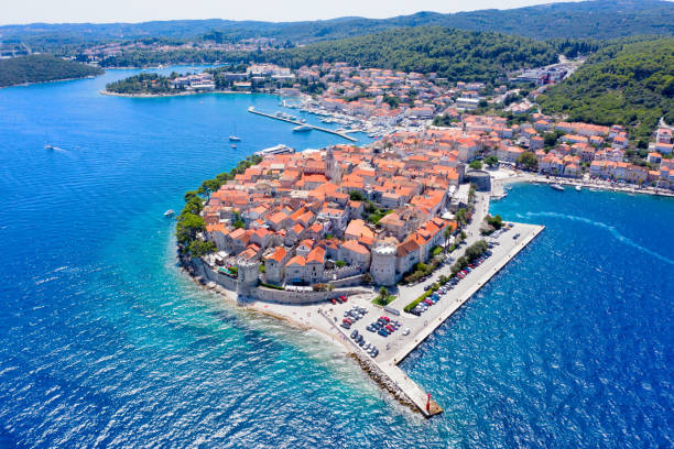 Korcula old Town stock photo