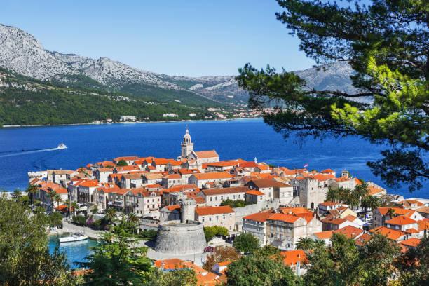 Korcula, Croacia - foto de stock