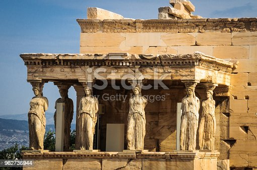 The ancient Greek temple in Athens dedicated to both Athena and Poseiden (421-406BC)