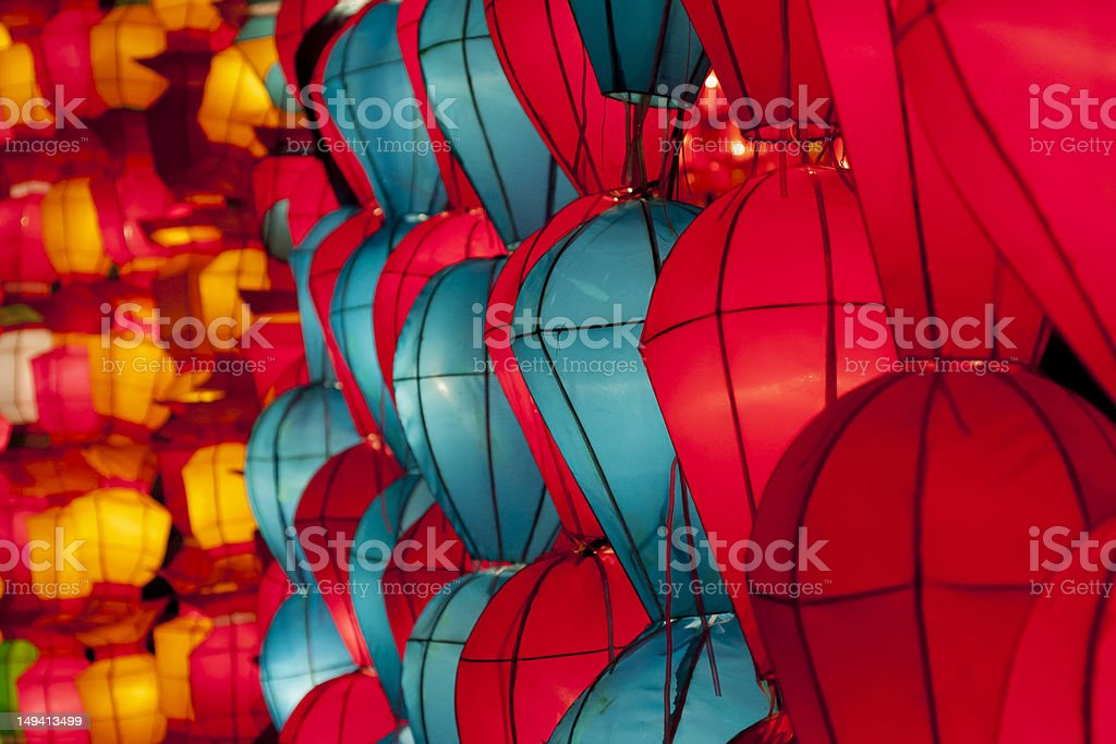 Korea lanterns stock photo