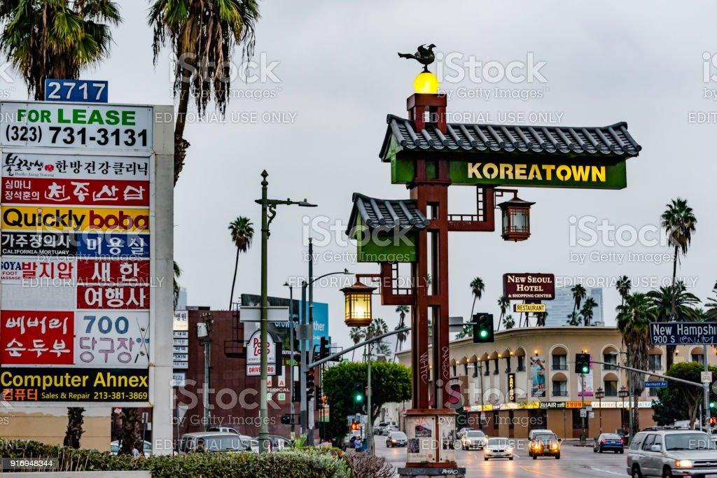 Korea Town Street In Los Angeles California Usa Stock Photo Download Image Now Istock