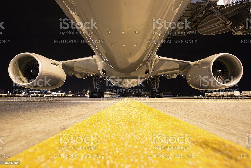 Korean Air Boeing 777-200ER royalty-free stock photo