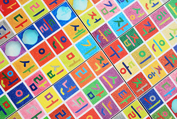 Korean alphabet (Hangeul) stock photo
