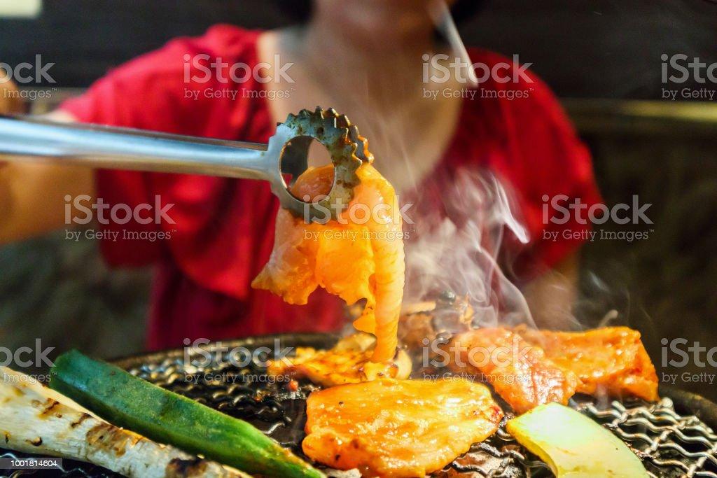korean barbecue grilled bulgogi stock photo