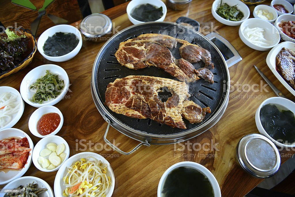 Korean barbecue stock photo