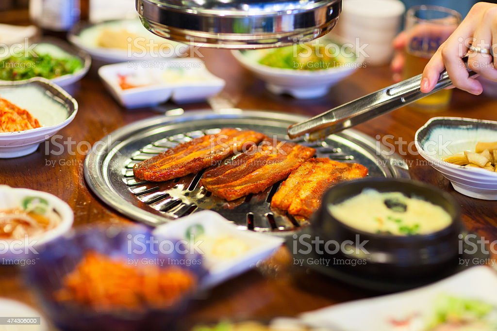 Korean barbecue stock photo