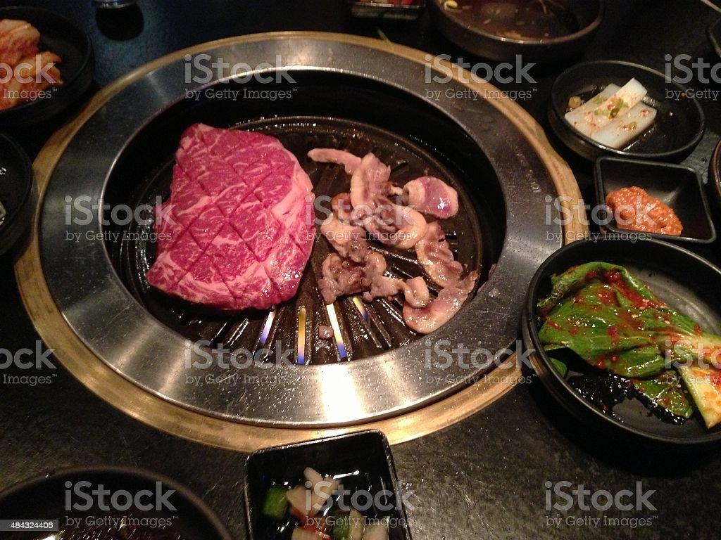 Korean BBQ dinner stock photo