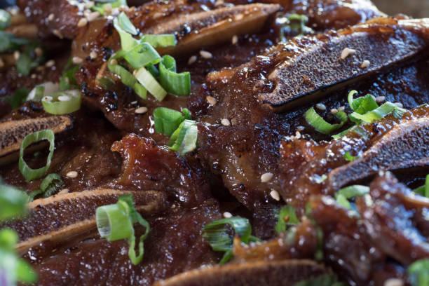Koreanische BBQ kurze Rippen Nahaufnahme – Foto