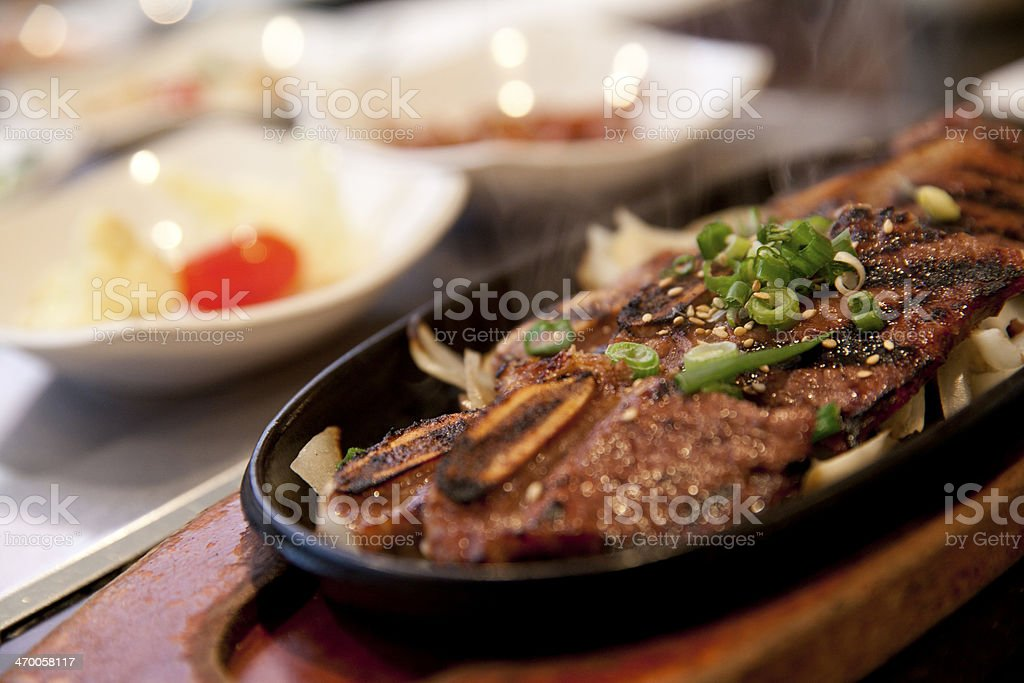 Korean B.B.Q. Short Ribs stock photo