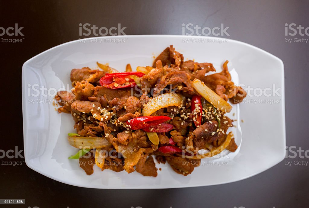 korean beef barbeque stock photo
