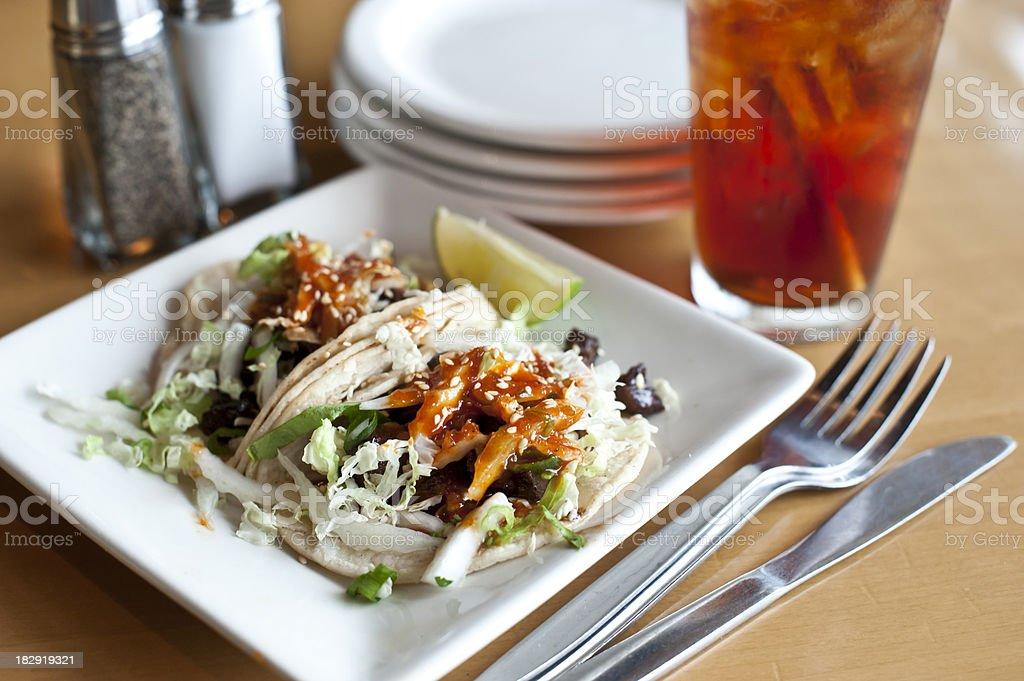Korean Beef Tacos stock photo