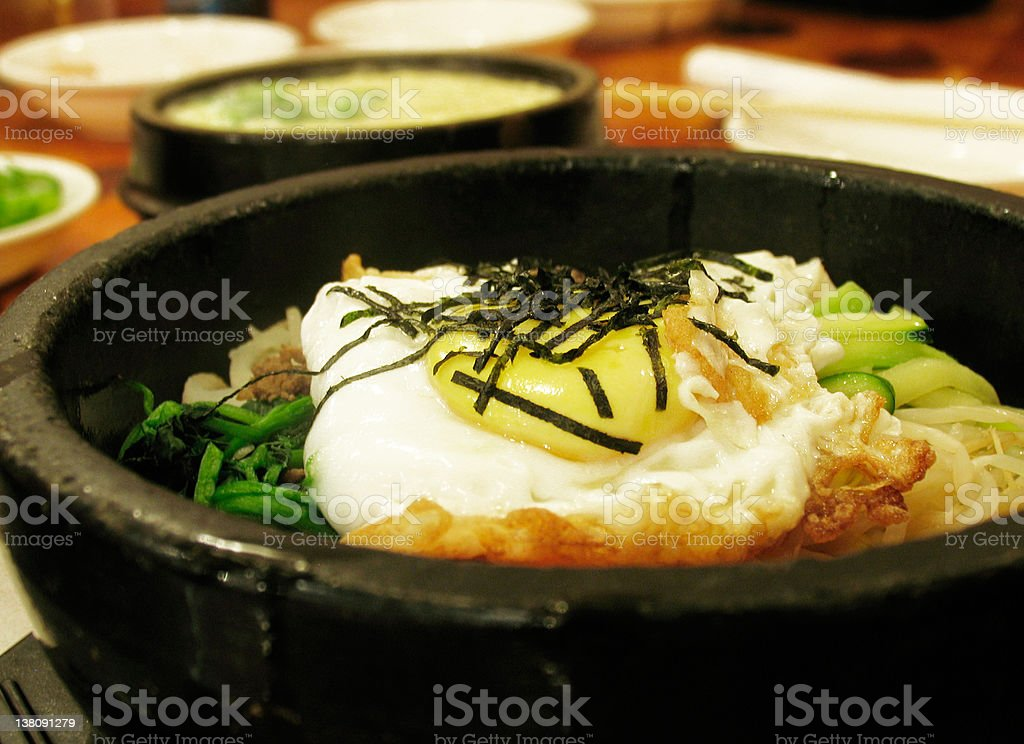 Korean Bibim Bap royalty-free stock photo