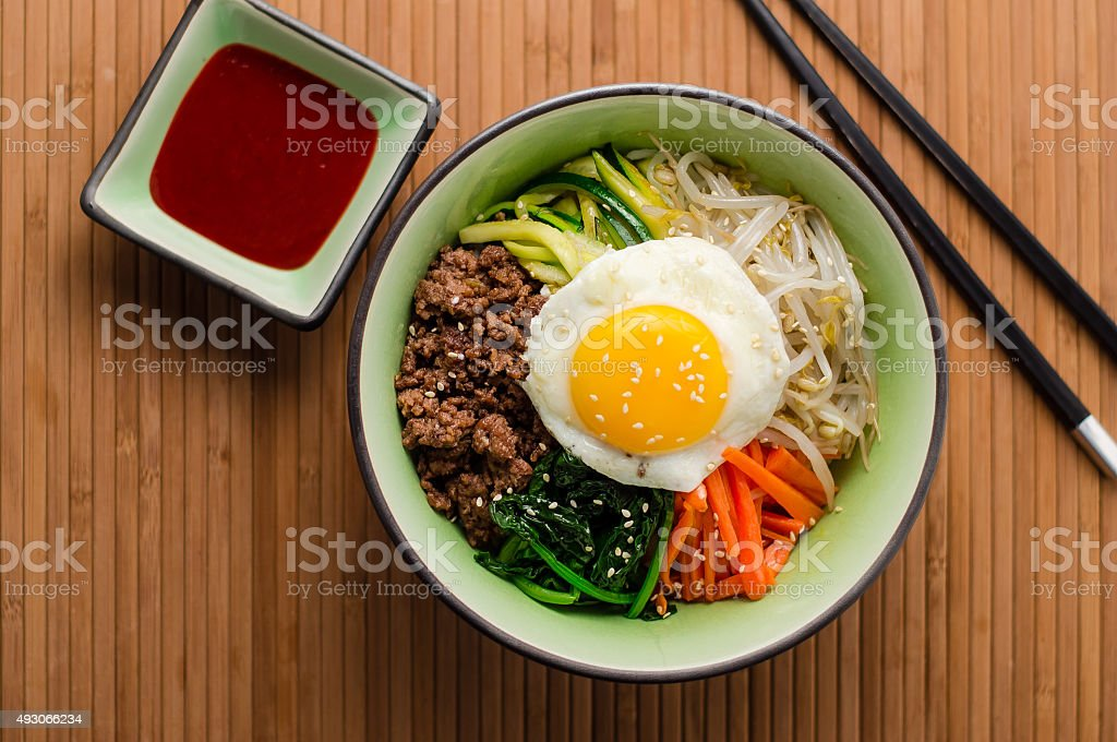 Korean Bibimbap Dish stock photo