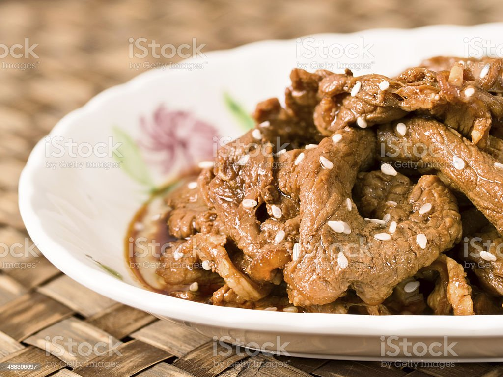 korean bulgogi beef stock photo