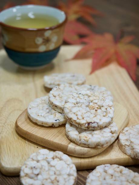 Korean Cookies Puffed rice stock photo