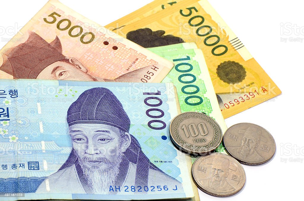 Korean Currency. stock photo