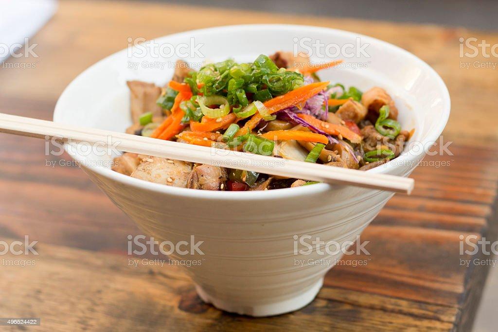 Korean Dak Bulgogi Chicken stock photo