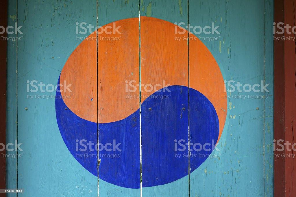 Korean Door royalty-free stock photo