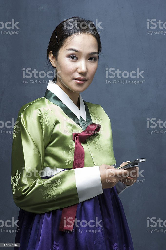 Korean dress stock photo