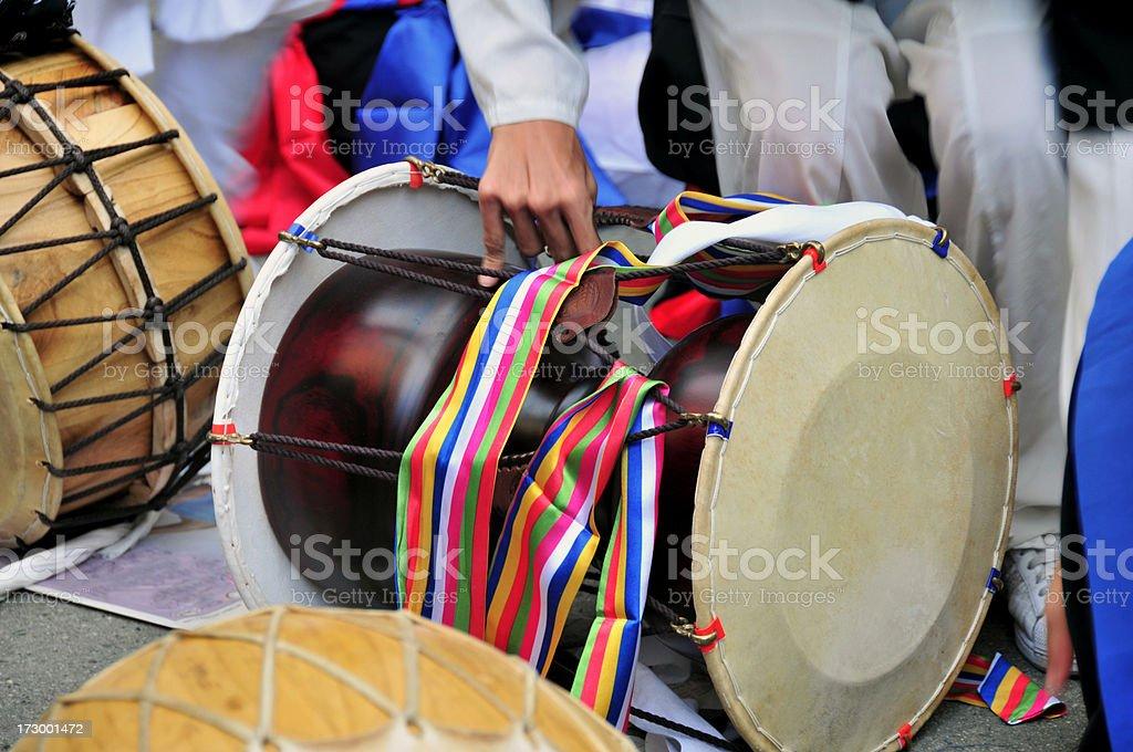 Korean Drum stock photo